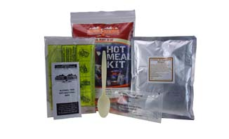 Hot Meal Kit | ArmyRation info MRE from EVAQ8.co.uk long life food rations