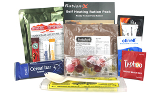 Ration X Self-Heating Meal in a Bag | ArmyRation info MRE from EVAQ8.co.uk long life food rations